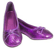 Purple Sparkle Shoes (purple flats)