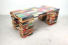 Repurposed Book Table
