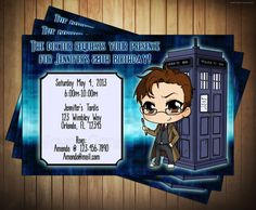 DIY Doctor Who Birthday Invitation