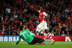 Our hat-trick hero, Danny Welbeck. Arsenal 4-1 Galatasaray (October 2014)