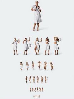 Таблица проверки зрения для мужчин.
