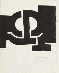 """Eduardo Chillida, Erasoaldi Woodcut on wove paper. """"To look is one thing, to see is another thing; to see is very difficult, normally; I have looked and I hope I have seen. Action Painting, Painting & Drawing, White Art, Black And White Abstract, Contemporary Abstract Art, Modern Art, Art Blanc, Print Artist, Art Plastique"""