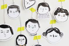 handmade gift tags, so cute!