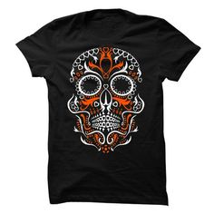 Sugar Skull T Shirts, Hoodies. Check price ==► https://www.sunfrog.com/LifeStyle/Sugar-Skull-Shirt-56709466-Guys.html?41382