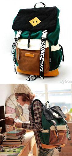 Vintage Fashion Trunk Travel Letters Canvas Backpack for big sale ! #canvas #backpack #bag #vintage