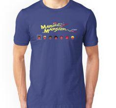 Maniac Mansion character select Tshirt (blue/classic/XXL)