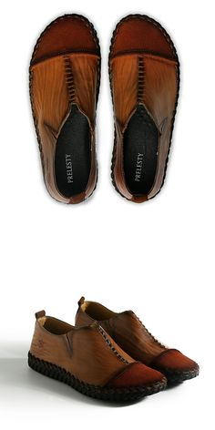>> Click to Buy << Prelesty High Quality Genuine Leather Men Shoes Handmade Slip On Loafer Dress Shoes Brand Men Flats Comfy Driving Shoes
