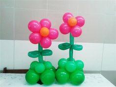 arreglos de flores con globos pequeos - Como Hacer Flores Con Globos