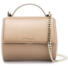 Givenchy mini 'Pandora Box' shoulder bag (€1.680) ❤ liked on Polyvore featuring bags, handbags, shoulder bags, givenchy, purses, sacs, grey, chain shoulder bag, givenchy purse e mini purse