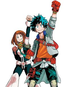 Boku no Hero Academia | My Hero Academia | Izuku Midoriya & Ochako Uraraka | Anime | Fanart | SailorMeowMeow: