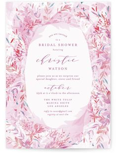 """Fantasy Floral Bride"" - Bridal Shower Invitations in Blush by Phrosne Ras. Letterpress Invitations, Pink Wedding Invitations, Graduation Party Invitations, Bridal Shower Invitations, Wedding Stationery, Invitation Cards, Invites, Graduation Greetings, Unique Bridal Shower"