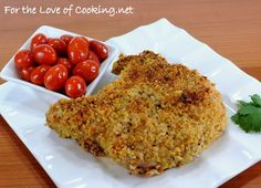 Super good Panko and Parmesean crusted Pork Chops. Made these for dinner tonight. YUM.
