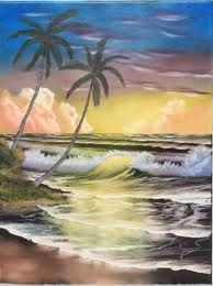 bob ross paintings - Palm trees by ocean  Google Search