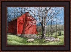 """On our March 2015 cover: """"The Red Barn"""" Print from Country Creations"""