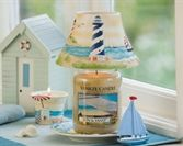 Beach Life themed Yankee Candle Accessories with the Sun & Sand Jar Candle