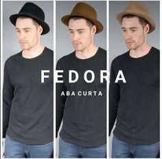 Escolha o seu Fedora Aba Curta A partir de R 158 Frete Grátis Brasil  Material  59a3a2b156a
