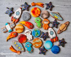 Planet comet galaxy star cookie