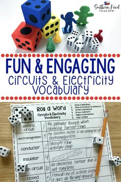 Your students will LOVE this vocabulary activity on Alternative Energy! Rolling the dice makes it fun and engaging, and they might even beg to play it! #vocabulary #science #sciencevocabulary #circuitsandelectricity #electriccircuits #electricity