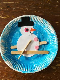 Toddler Art, Toddlers, Crafts, Snowman, Day Care, Seasons, Bricolage Noel, Crafting, Young Children
