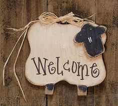KP Creek Gifts - Hanging Chubby Welcome Sheep