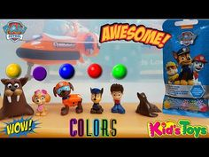 Learn COLORS with Paw Patrol Bath Paint - Paw Patrol FULL Set Bathtime Toys