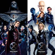 Destroy. Defend. Xmen Apocalypse roster poster. Loving it.