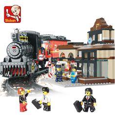 Model building kit compatible with lego city Explorers League Train 3D block Educational model building toys hobbie for children #Affiliate