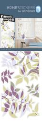 Nouvelles Images Home Stickers Reusable Leaves Window Clings