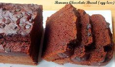Moist, delish, chocolaty and egg free... Banana Chocolate Bread