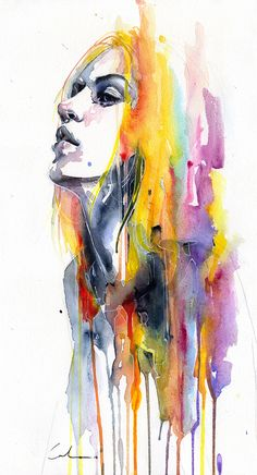 Sunshower by Agnes Cecile - Fine Art Prints available from Eyes On Walls http://www.eyesonwalls.com/products/sunshower-1