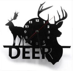 12″ Acrylic Wall Deer Clock – PawzOutlet