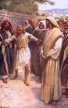 Bartimaeus by Harold Copping ~ Jesus