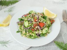 Bulgur na marocký spôsob – Recept - Bulgur Salad Bulgur Salad, Cobb Salad, Food, Essen, Yemek, Meals
