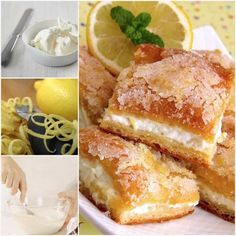 Lemon Cream Cheese Bars Are Delicious