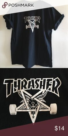 Thrasher Skate Goat Tee 100% cotton. Worn and washed just a couple times. Fits TTS. Basically like new. Thrasher Shirts Tees - Short Sleeve