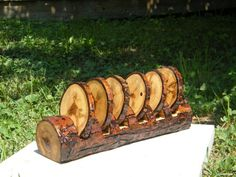 Beautiful reclaimed wood coaster set of 6 with by CountryCreative, $30.00