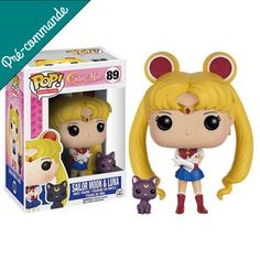 This is a Funko Sailor Moon with Luna POP Vinyl Figure. Standing inches tall, the Sailor Moon POP Vinyl figure is super cute! It's great to see that the Sailor Moon characters finally got their v Sailor Moon Luna, Sailor Chibi Moon, Sailor Uranus, Sailor Moon Crystal, Sailor Mars, Figurines D'action, Pop Figurine, Anime Figurines, Sailor Mercury