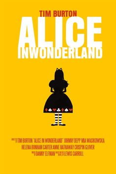 Alice In Wonderland Movie Poster 5 Poster by FunnyFaceArt on Etsy, $35.00
