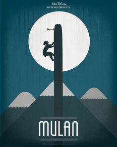Mulan minimalist poster by hydrogeneportfolio