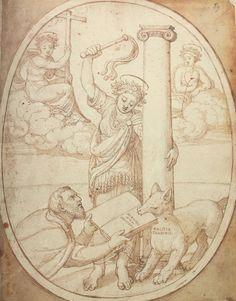 Autorretrato de Francisco de Holanda. De Aetatibus Mundi Imagines. Self portrait of Francisco de Holanda. De Aetatibus Mundi Imagines.