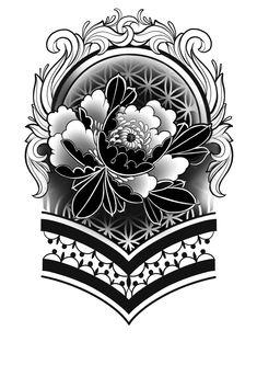Mandala Tattoo Sleeve, Geometric Mandala Tattoo, Mandala Tattoo Design, Tattoo Design Drawings, Tattoo Sleeve Designs, Tattoo Designs Men, Rose Tattoos For Men, Girls With Sleeve Tattoos, Flower Pattern Drawing