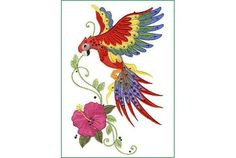 Parrot Tattoo Designs, Designs of Parrot Tattoos, Beautiful . Machine Embroidery Designs, Embroidery Patterns, Parrot Tattoo, Largest Butterfly, Black Tree, Butterfly Design, Cross Stitch Embroidery, Art Inspo, Fabric Crafts