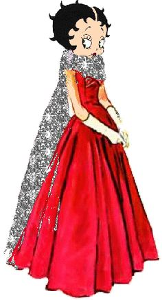 Betty Boop In Beautiful Red Dress Graphics