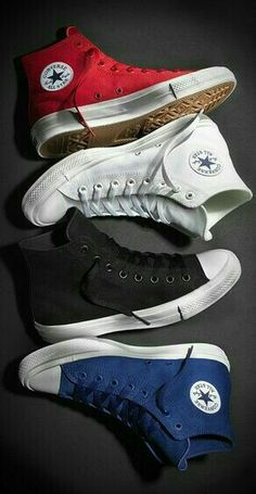After 98 years, Converse has finally created a second iteration of the popular Chuck Taylor, with its All Star II. Black or white Converse Shoes, Converse Style, Converse All Star, Men's Shoes, Shoe Boots, Vans, Adidas Shoes, Sneakers Fashion, Fashion Shoes