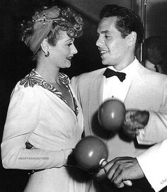 Lucy and Desi at the Copacabana, August 1941. Although their marriage didn't last, Lucy loved Desi until the day she died, and he loved Lucy with his last breath.