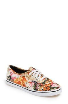 Vans+'Authentic+Lo+Pro+-+Floral'+Sneaker+(Women)+available+at+#Nordstrom