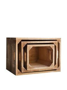 Really Nice Things Aufbewahrungsbox 3er Set Vintage natur/braun
