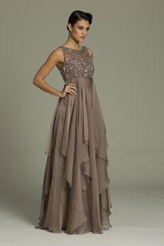 e151348b9e Empire Jewel Sweep Brush Train Chiffon Mother of the Bride Dress ...