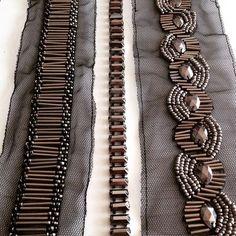 Silver Beaded Lace Trim Sequined Trim 1 Yard For Costume Wedding Dress Belt Brial Sash Jewelry Design - Her Crochet Zardosi Embroidery, Kurti Embroidery Design, Bead Embroidery Patterns, Tambour Embroidery, Hand Work Embroidery, Couture Embroidery, Embroidery Suits, Embroidery Fashion, Embroidery Jewelry