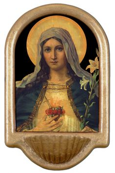 Antique Immaculate Heart Holy Water Font Click Picture to Get it Now!